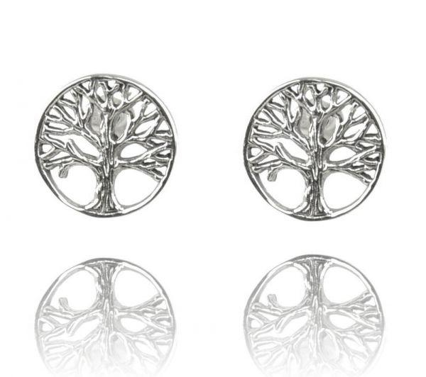 Baum Silber-Ohrstecker