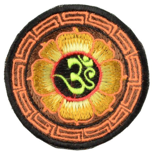 Om im Lotus Aufnäher