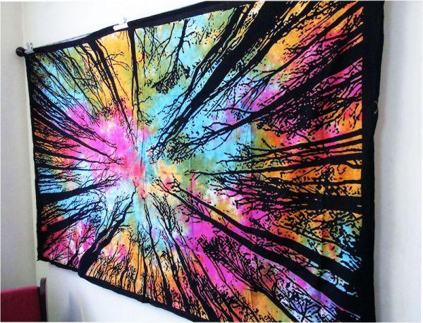 psychedelic wood wald Wandtuch, große goa tücher