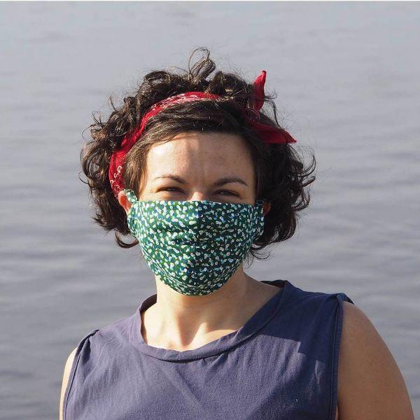 Behelfs-Maske, Mund-Nase-Schutz