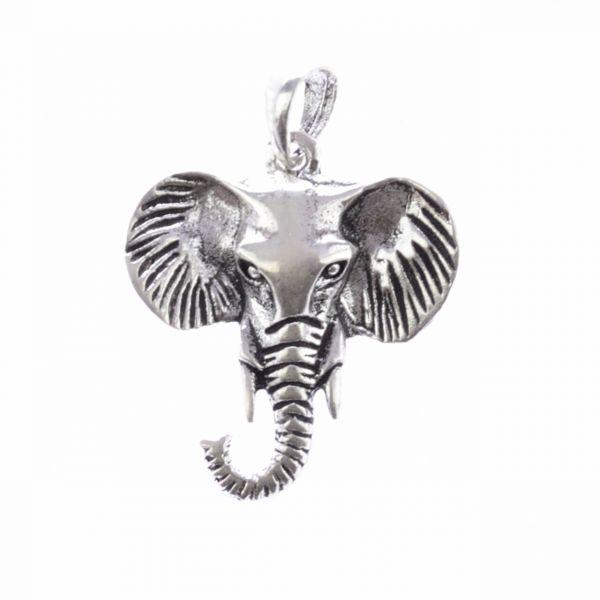 Elefanten Kopf SIlberanhänger Silber Krafttier Schmuck