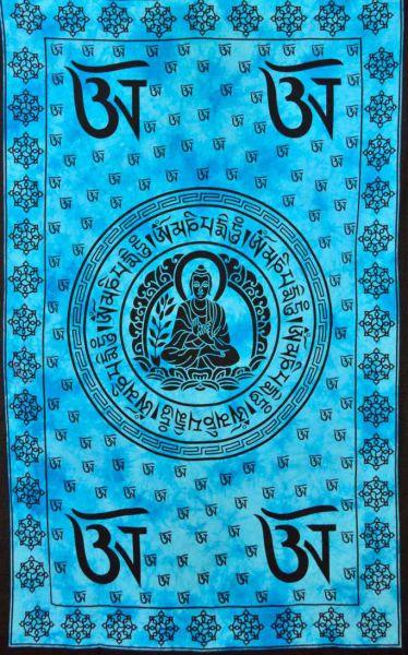 Buddha Wandtuch tibetische Om Zeichen