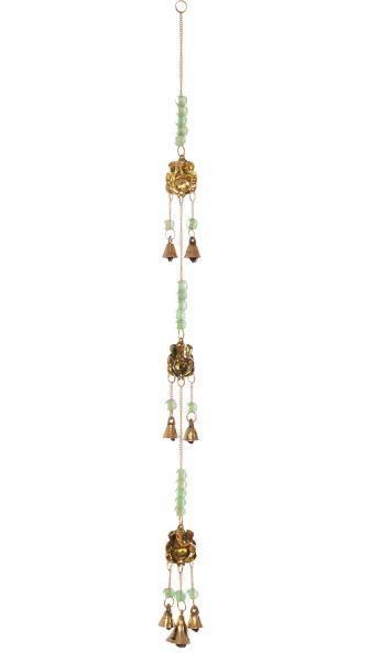 Mobile, Windspiel Ganesha mit Glöckchen und Perlen