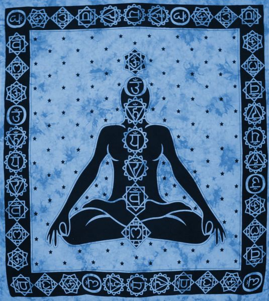 Wandtuch Chakra Meditation