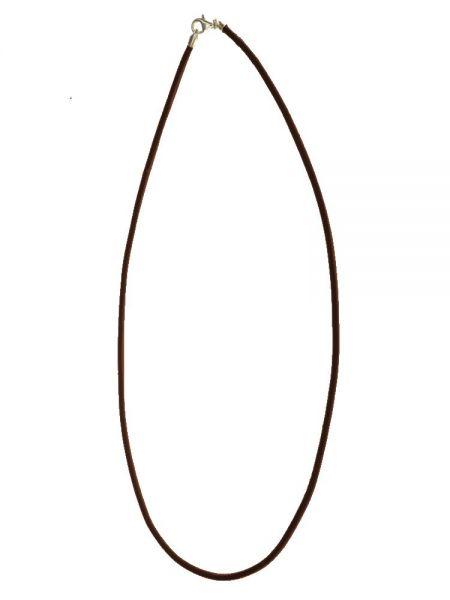 Kette Rindleder 2mm Silberkarabiner