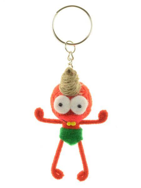 Rote Ugly-Doll Schlüsselanhänger