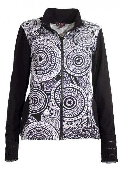 Coline Jersey-Jacke Allover-Print  Goa Kleidung, Hippie jacke