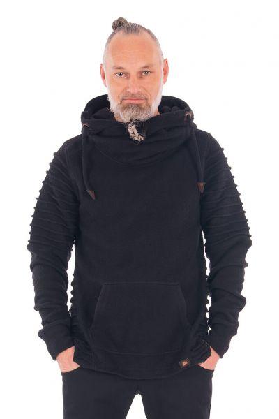 Chapati Warmer Männer Teddy-Pullover Bio-Baumwolle Schwarz