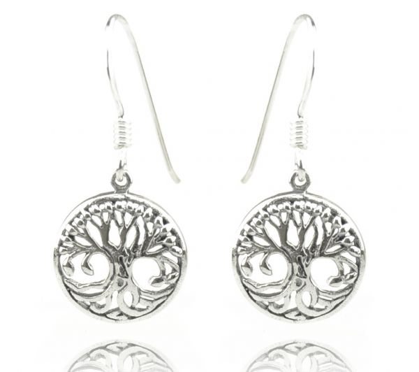 Lebensbaum Silber-Ohrringe