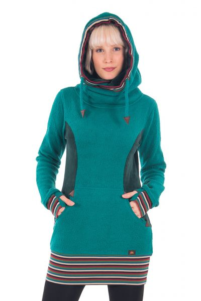 Chapati Long-Pulli Teddy Tunica langes warmes Pullover-Kleid