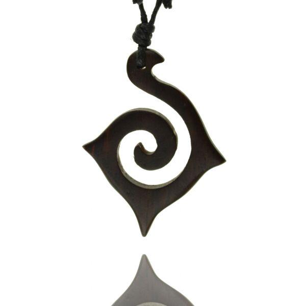 Goa Schmuck Halskette Tribal Spirale Holz Kette