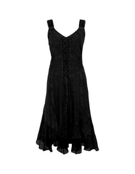 Coline paillettenbesticktes Sommerkleid Brustschnürung