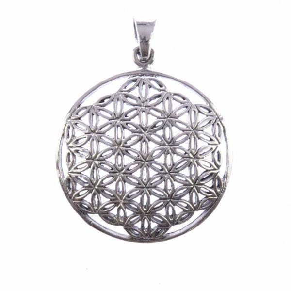 Blume des Lebens Silberanhänger offen 27mm Silberschmuck