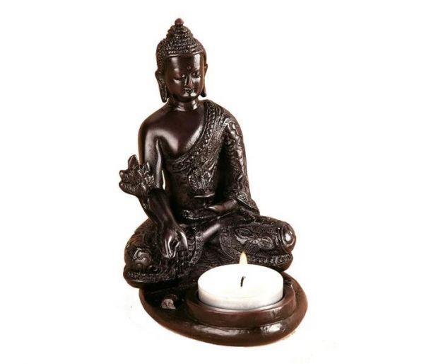 Buddha Statue Räucherstäbchenhalter