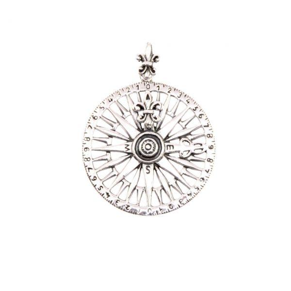 Kompass Silber Kettenanhänger Schmuck