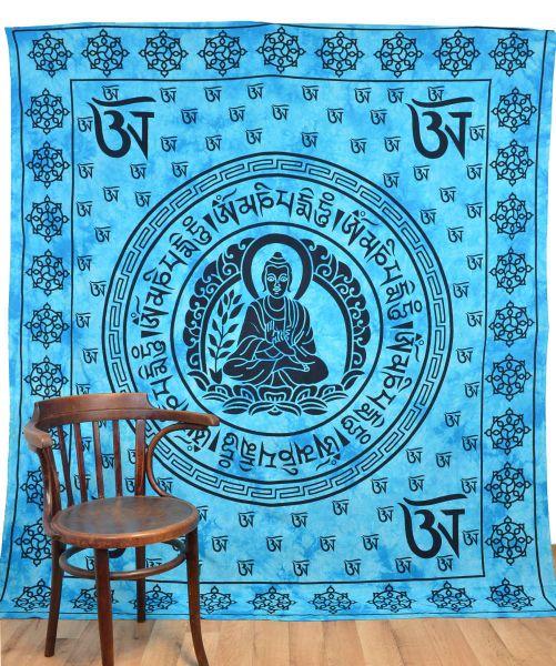 Wandtuch Goa Tücher Buddha tibetische Om Zeichen