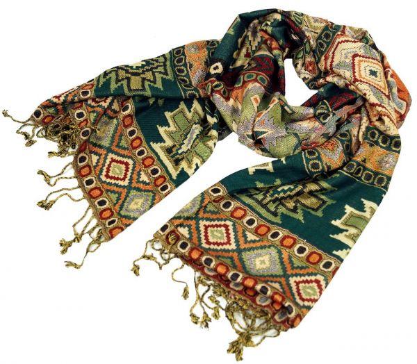 Dünner Akashi Schal mit Inka Muster