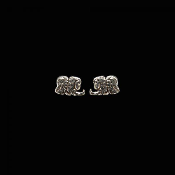 Zwilling Sternzeichen Silberohrstecker