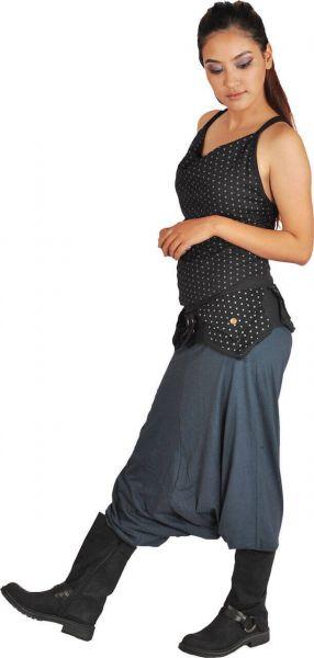 Anki Design Gürteltasche schwarz Pünktchen Goa Kleidung