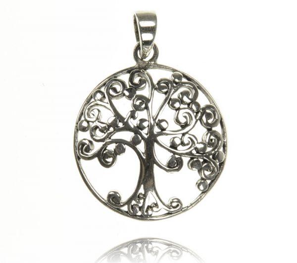 Baum Silber Anhänger