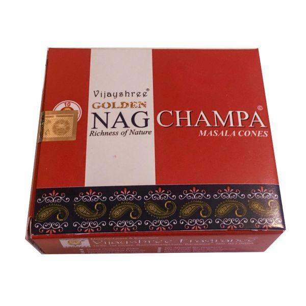 Golden Nag Champa Räucherkegel Vijashree