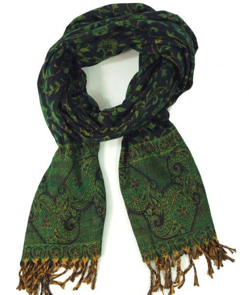 Dicker Paisley Schal, grün
