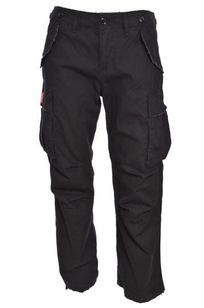 cargohose schwarz, loose fit, gerade