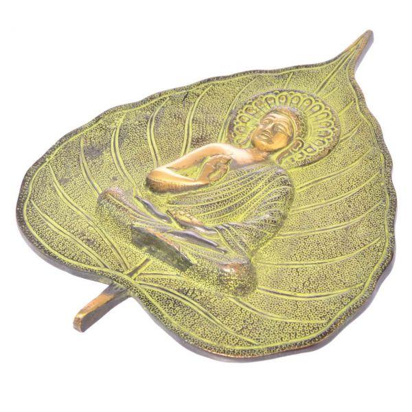Buddha auf Lotusblatt Wanddekoration Meditation Dekoration