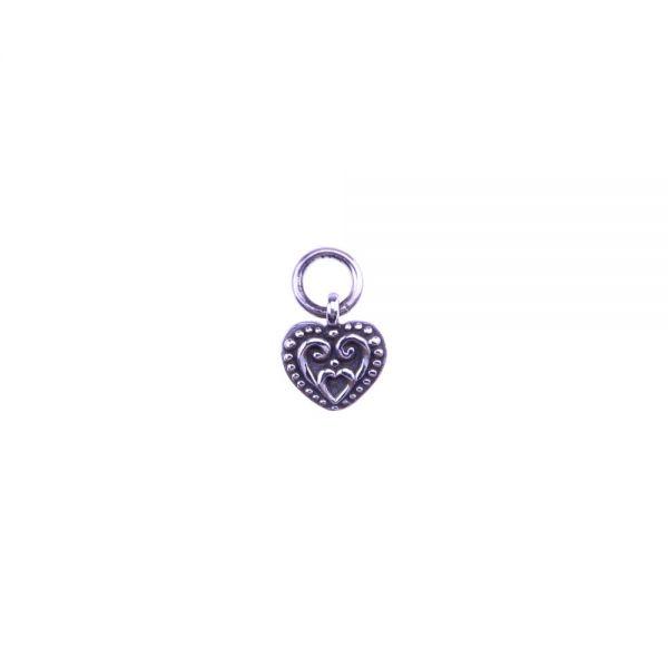 Herz Ornament Silberanhänger