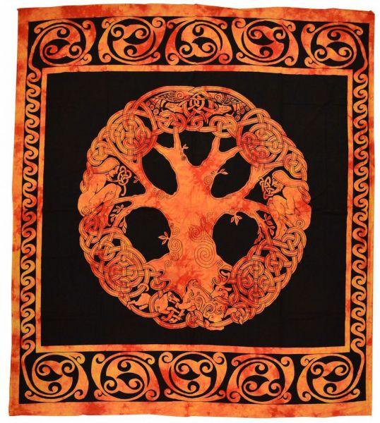 yggdrassil keltisches wandtuch Lebensbaum