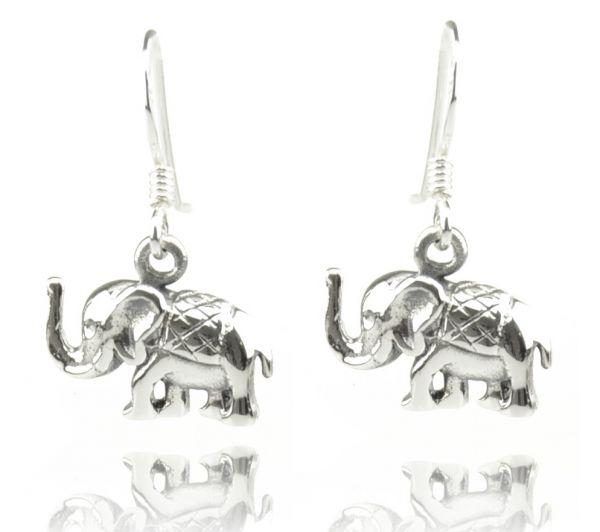 Elefanten Silberohrringe