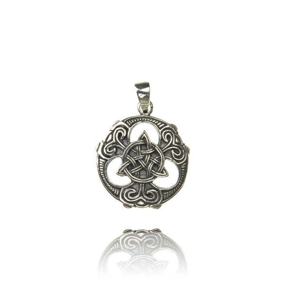 Keltischer Knoten Silber Anhänger