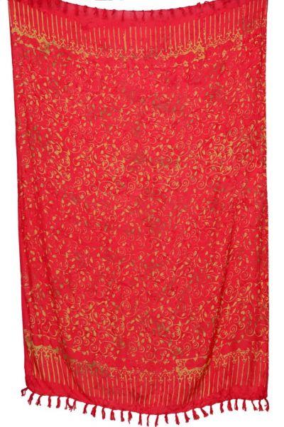 Mehrfarbiger Batik Sarong Rot