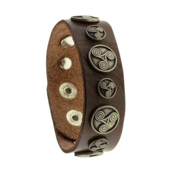 Triskele Leder Armband Männer