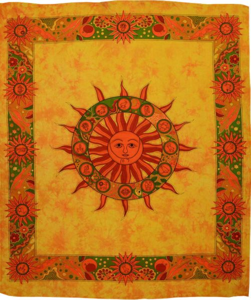 Wandtuch Sonne, Tierkreis großes Tuch