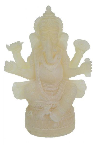 Ganesha Statue weisser Alabaster