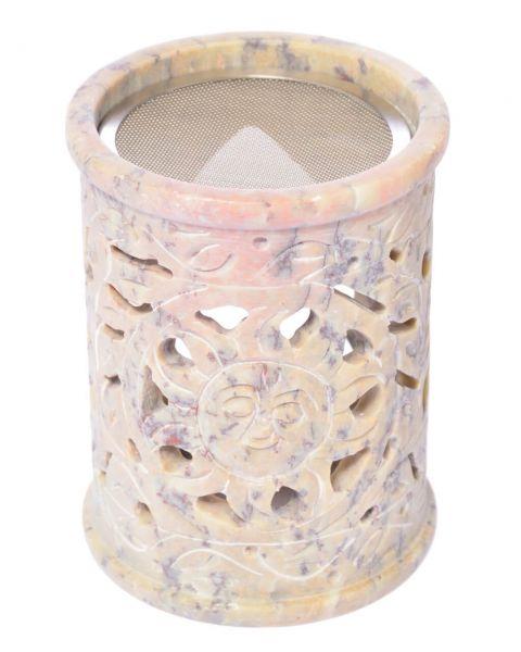 Siebverdampfer Speckstein Sonne indisch florales Motiv