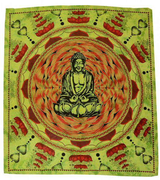 Buddha im Lotus Wandtuch 200x225