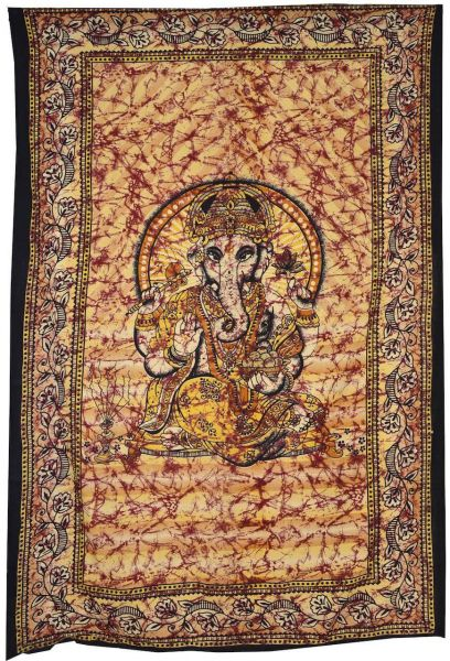 Ganesha Wandtuch, Single Tagesdecke