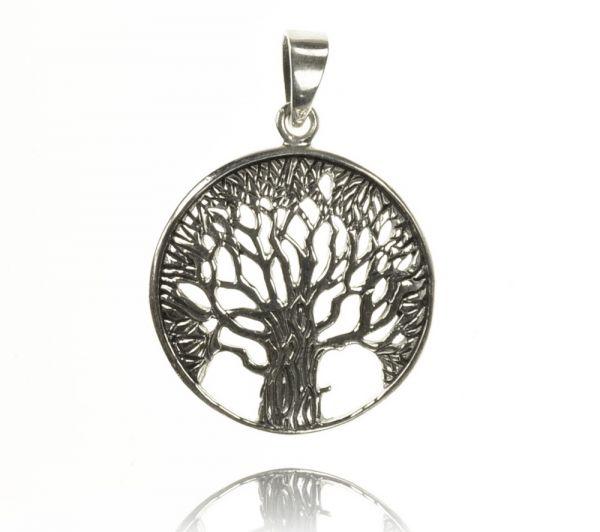 Filigraner Baum Silberanhänger Lebensbaum