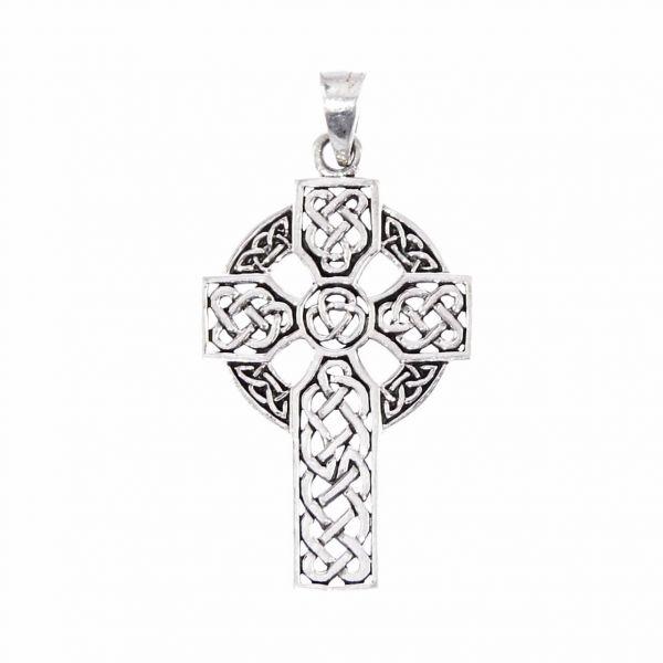 Kelten Kreuz Silberanhänger keltischer Knoten Schmuck