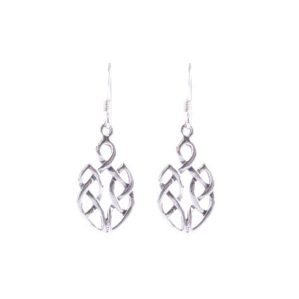 Paar Keltischer Knoten Silberohrringe Silberschmuck