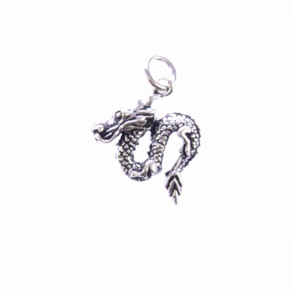 Mini Drache Silberanhänger  asiatischer Stil Silberschmuck