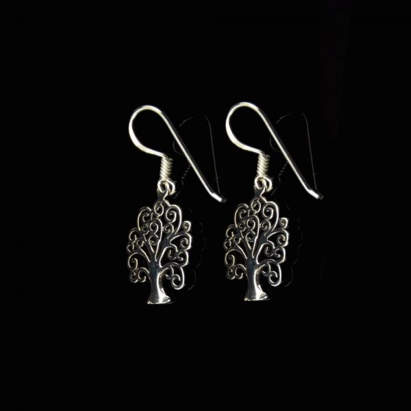 Baum Silber-Ohrringe