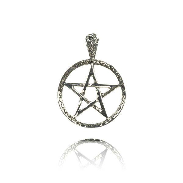 Kelten Pentagramm  Drudenfuß Silber Anhänger