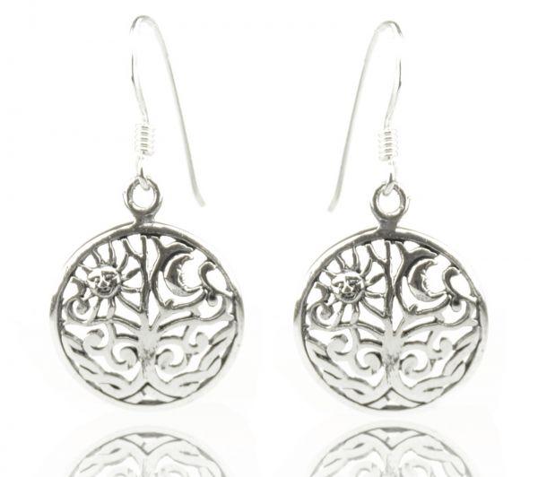 Ohrringe Baum, Sonne und Mond