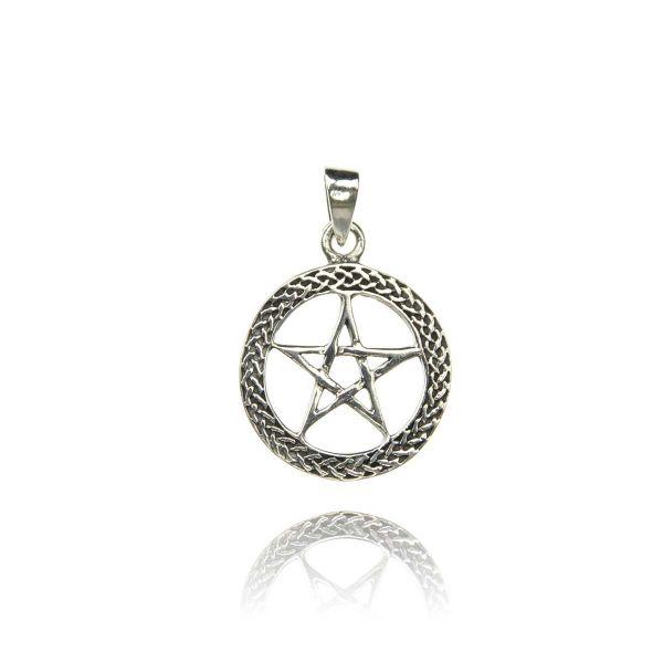 Offener Pentagramm Silberanhänger