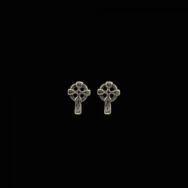 Keltisches Kreuz Silber-Ohrstecker