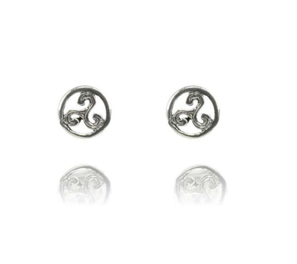 Triskele Paar keltisch Silber Schmuck Ohrstecker