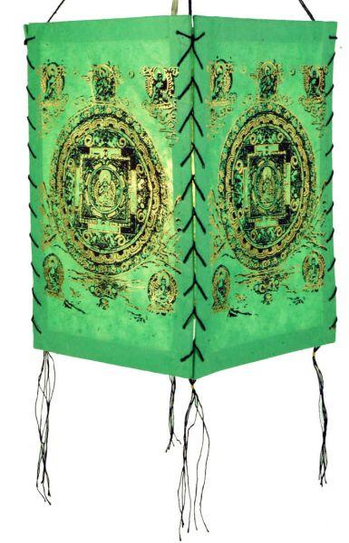 Viereckige Papierlampe buddhistische Motive